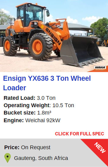Ensign YX636 3 Ton Wheel Loader