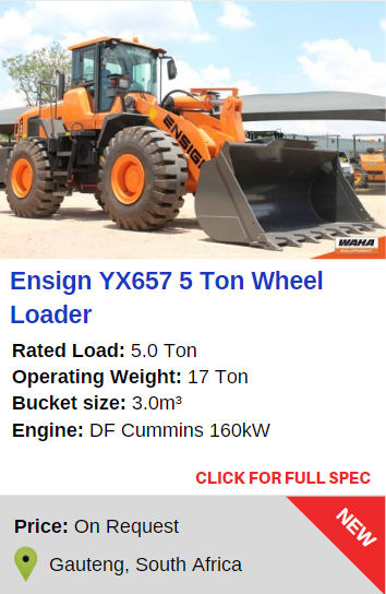 Ensign YX657 5 Ton Wheel Loader