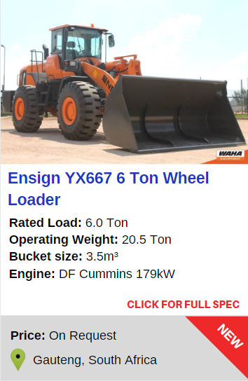 Ensign YX667 6 Ton Wheel Loader
