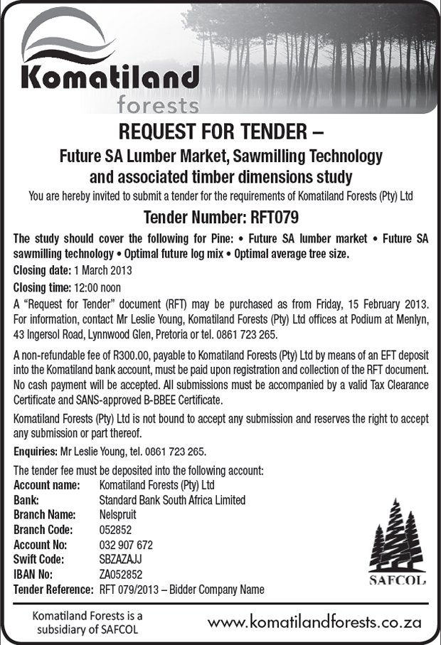 Komatiland Forest - Request for Tender