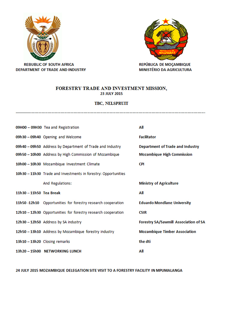 nvitation for Forestry Trade and Investment Seminar