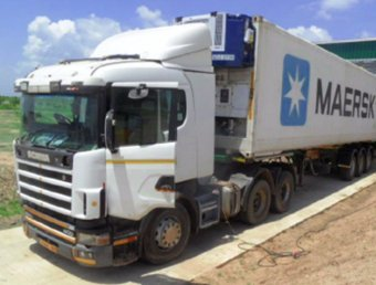 Refrigerated Reefer loading at our Packhouse.  18,200kg Caribbean King Melons bound for Dubai
