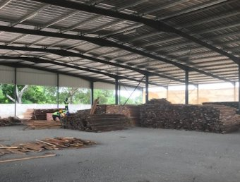 Sawmill structure complete