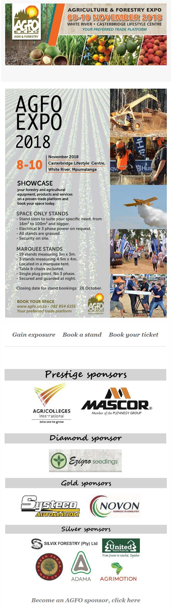 Agriculture & Forestry Expo: White River, Mpumalanga: 8 - 10 November