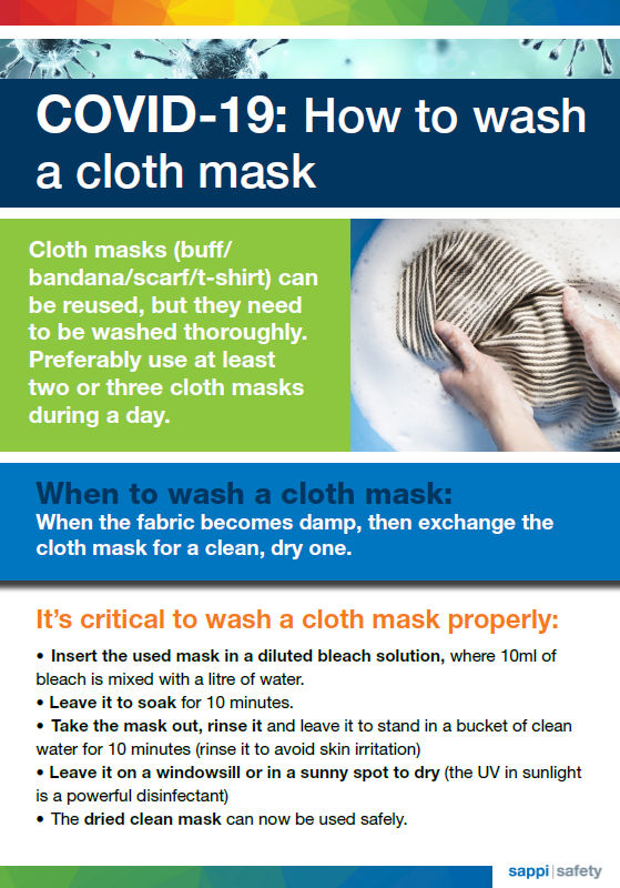 Sappi - How to wash your mask
