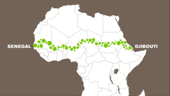 21 African countries are joining together to build a 4,750-mile wall of trees
