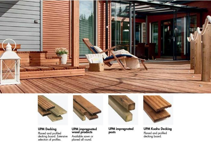 UPM impregnated wood products