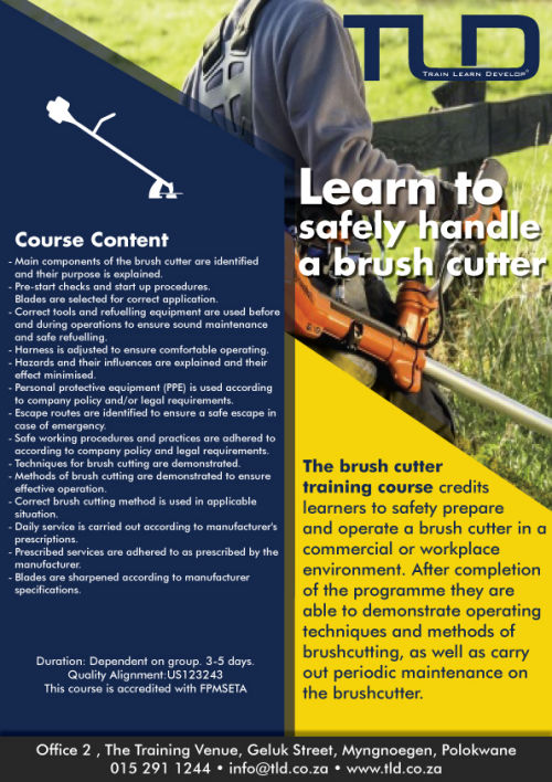 Brush cutter safety training